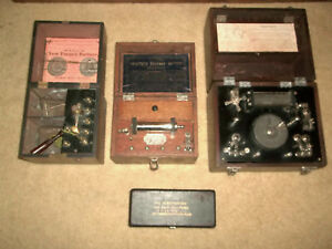 4 Antique Electro Shock Therapy Machines Quack Devices Battery For Display