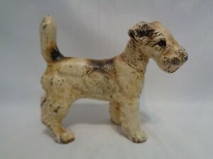 Handsome Hubley Cast Iron Airedale Terrier Dog Doorstop 5 5 Inches Heavy