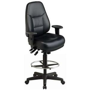 Drafting Chairs Harwick Multi function Leather Arms Office Products