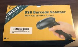 Esky Usb Automatic Handheld Barcode Scanner Reader With Free Adjustable Stand