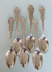 Towle Sterling Silver Old English 7 Spoons 1892 With W Mono X6