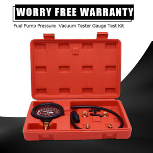 Auto Motorbike Fuel Pump Vacuum Pressure Tester Diagnostic Gauge Repair Test Set