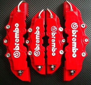3d Red 4 Brembo Style Car Universal Disc Brake Caliper Covers Front