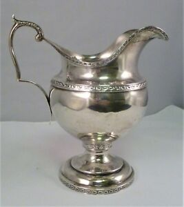 Bailey Co Philadelphia Coin Silver Neo Classical Large Cream Jug Pitcher 1860s
