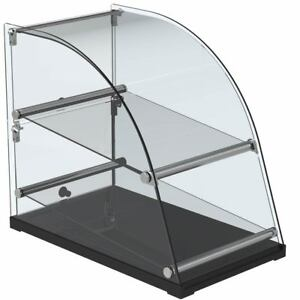 Curved Glass Extra Deep Countertop Dry Display Case 22