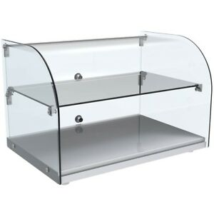 Curved Glass Countertop Dry Display Case 22