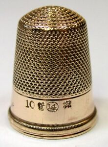 Antique H Muhr S Sons Gold Presentation Thimble For Mother C1880s