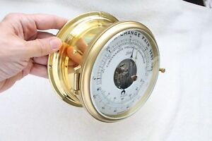 Barometer Ship Clock Schatz Royal Mariner Complete Service By Clockmaker Be My