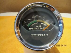 1961 68 Vintage Vacuum Gauge For Pontiac Cars Gto And Full Size Cars