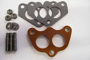 Fits Edelbrock Dual Super Stromberg 97 Holley 94 Carb Spacer Phenolic Riser 1 4
