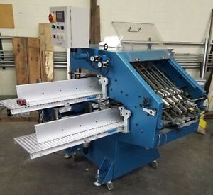 Osaka Oscillating Conveyor Stacker off Folder Or Binder Batching Stacking