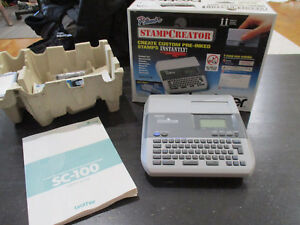 New P Touch Stamp Creator Printer Sc 300pc Custom Pre Inked Stamps W Box