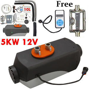 5kw 5000w 12v Air Diesel Fuel Heater For Trucks Boats Motor Remote Controller