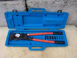 T b Thomas Betts Tbm8s Wire Cable Crimper With Many Dies Works Fine 5