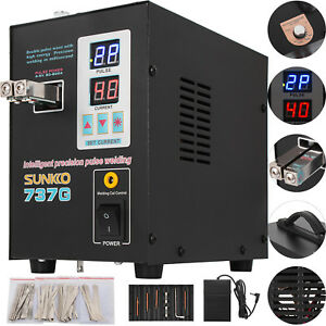 737g Pulse Spot Welder Welding Soldering Machine 18650 Battery Packs 110v 1 5kw