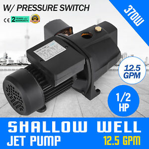1 2 Hp Shallow Well Jet Pump W Pressure Switch 110v Farms Jsw 8m Supply Water