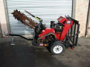 2012 Toro Trx 20 Wack Behind Trencher With Trailer Only 220 Hours Works Well
