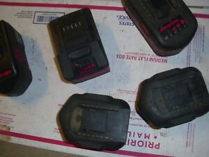 5 Snap On Blue Point Bad Cordless Tool Batteries For Rebuild Rebuilders