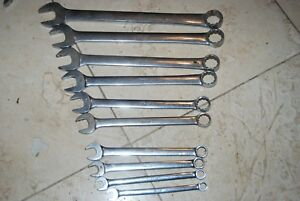 Snap On Vintage Sae 10 Piece Combination Wrench Set 3 8 1 Missing 5 8