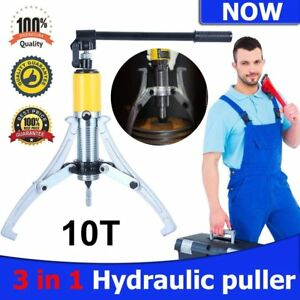 10 Ton Hydraulic Gear Puller Pulling 3in1 Pumps Oil Tube Drawing Machine W Case
