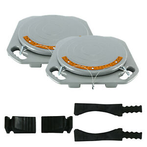 2 X Front Alignment Turn Plate Car Truck Front End Wheel Alignment Turn Plate