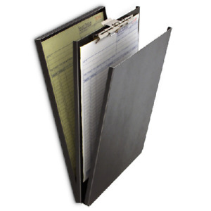 Saunders 10117 Top Opening Black Vinyl A holder 8 5 X12 Clipboard Compartment