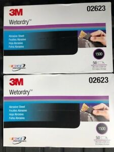 Lot Of 2 100 Sheet 3m 02623 Wetordry 1500 Grit 5 1 2 X 9 Inch Same As 2023 New