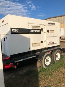 Multiquip Dca220ssju 176kw Portable Diesel Generator load Bank Tested
