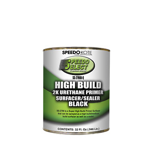 Super Fill High Build Urethane Primer Black Quart Only No Activator Ss 2790b Q