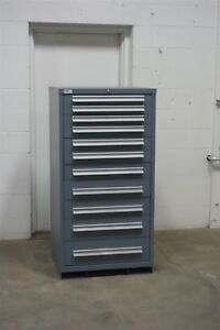 Used Lyon 11 Drawer Cabinet Industrial Tool Parts Storage Box 1613 Vidmar