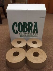 4 Rolls Reinforced Kraft Gummed Paper Tape Industrial Grade 3 70mm X 450