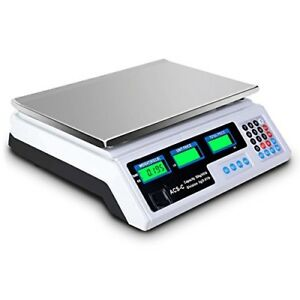 Digital Scale 66lb Commercial Meat Food Fruit Produce Price Computing