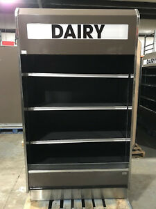 Barker 4 X 30 Open Air Refrigerated 4 Multi Deck Grocery Display Case Cooler