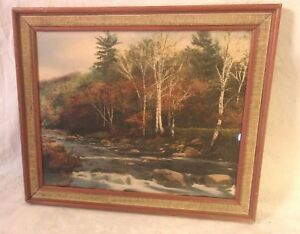 Vintage Frame With Wallace Nutting Print 14 1 2 X 17 1 2 Holds 12x15
