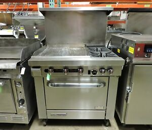 Southbend S36d 2gl Commercial Gas Griddle 2 burner Split Top Range W Oven