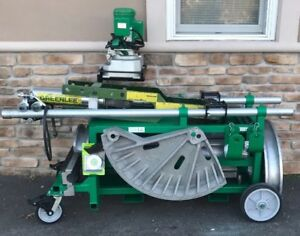 Greenlee 881ct Hydraulic Bender 2 1 2 4 Emt Imc Rigid mobile Bending Table