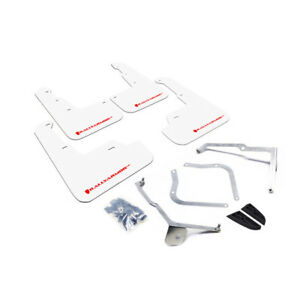Rally Armor Ur Mud Flaps White W Red Logo For 15 19 Wrx Sti Mf32 Ur Wh Rd