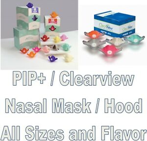 Accutron Pip Clearview Personal Inhaler Plus Disposable Nasal Hood All Sizes