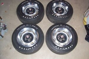 71 72 73 74 Amc Amx Javelin 15 X 7 Rally Wheels W caps Rings Tires