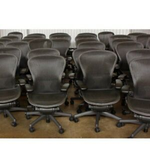 Herman Miller Aeron Chair Size B Fully Loaded With Lumbar Support
