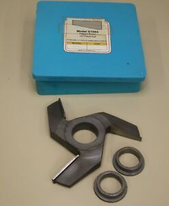 Grizzly Shaper Cutter G1563 Carbide 1 1 4 Bore Raised Panel 15 Degree Face Cut