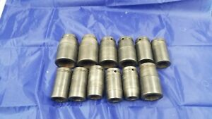 Used Snap on 12 Piece 3 4 Dr 6 Point Deep Impact Sockets