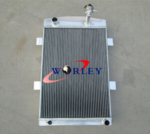 56mm Custom Aluminum Alloy Radiator For Chevy 1935 1936 35 36 M T