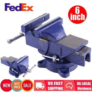 6 Mechanic Bench Vise Table Top Clamp Press Locking Swivel Base Heavy Duty Us