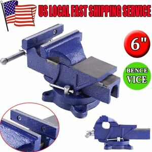 New 6 Heavy Duty Work Bench Vice Engineer Locking Base Workshop Vise Clamp Ma
