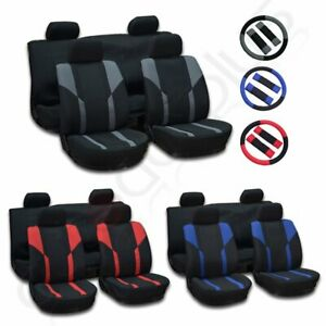 For Lexus Honda Double Compound Mesh Cloth Car Seat Covers W Headrest Covers