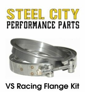 Vs Racing 78 75 Turbo Stainless 3 Downpipe Flange Clamp Kit 72mm 76mm 78mm
