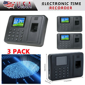 3x 2 8 Attendance Machine Recorder Biometric Fingerprint Time Clock Reader Ma