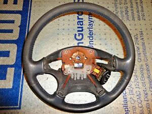 99 00 Honda Civic Si Steering Wheel Leather Wrapped Oem Wear