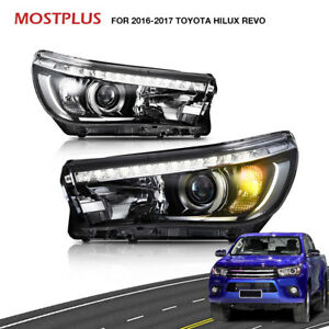 New Drl Led Headlights Front Headlight Assembly For 2016 2017 Toyota Hilux Revo